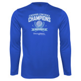 Syntrel Performance Royal Longsleeve Shirt-2017 Centennial Conference Champions Mens Golf