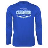 Syntrel Performance Royal Longsleeve Shirt-2017 Centennial Conference Champions Softball