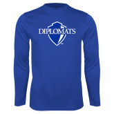Performance Royal Longsleeve Shirt-Diplomats Official Logo