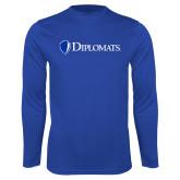 Syntrel Performance Royal Longsleeve Shirt-Diplomats Flat Logo
