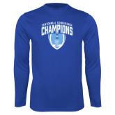 Syntrel Performance Royal Longsleeve Shirt-2017 Football Champions Stacked w/ Football Vertical