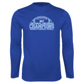 Syntrel Performance Royal Longsleeve Shirt-2017 Football Champions Stacked w/ Football