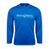 Syntrel Performance Royal Longsleeve Shirt-Franklin & Marshall College