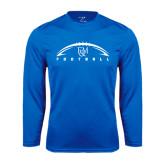 Syntrel Performance Royal Longsleeve Shirt-Flat Football Design