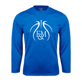 Syntrel Performance Royal Longsleeve Shirt-Logo in Ball