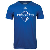Adidas Climalite Royal Ultimate Performance Tee-Diplomats Official Logo