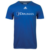 Adidas Climalite Royal Ultimate Performance Tee-Diplomats Flat Logo