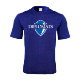 Performance Royal Heather Contender Tee-Diplomats Official Logo