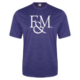 Performance Royal Heather Contender Tee-F&M