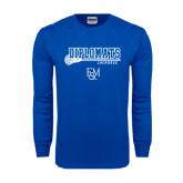 Royal Long Sleeve T Shirt-Lacrosse Stick
