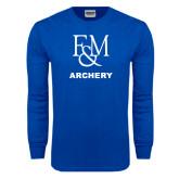 Royal Long Sleeve T Shirt-Franklin & Marshall Archery