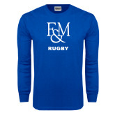 Royal Long Sleeve T Shirt-Franklin & Marshall Rugby