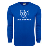 Royal Long Sleeve T Shirt-Franklin & Marshall Ice Hockey