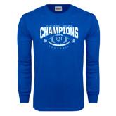 Royal Long Sleeve T Shirt-2016 CC-MAC Bowl Champions Football