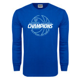 Royal Long Sleeve T Shirt-2016-17 Centennial Conference Champions Mens Basketball