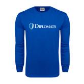 Royal Long Sleeve T Shirt-Diplomats Flat Logo