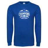 Royal Long Sleeve T Shirt-2017 Centennial Conference Champions Womens Lacrosse
