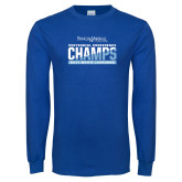Royal Long Sleeve T Shirt-2017 Centennial Conference Champions Mens Lacrosse