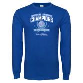 Royal Long Sleeve T Shirt-2017 Centennial Conference Champions Mens Golf