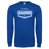 Royal Long Sleeve T Shirt-2017 Centennial Conference Champions Softball