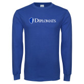 Royal Long Sleeve T Shirt-Diplomats Flat Logo