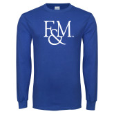 Royal Long Sleeve T Shirt-F&M