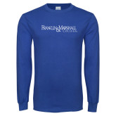 Royal Long Sleeve T Shirt-Franklin & Marshall College