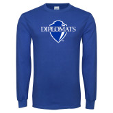 Royal Long Sleeve T Shirt-Diplomats Official Logo Distressed