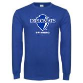 Royal Long Sleeve T Shirt-Swimming