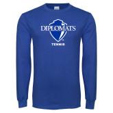 Royal Long Sleeve T Shirt-Tennis
