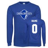 Royal Long Sleeve T Shirt-Diplomats Official Logo, Custom Tee w/ Name and #