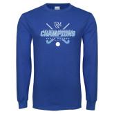 Royal Long Sleeve T Shirt-2017 Field Hockey Champions