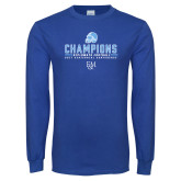 Royal Long Sleeve T Shirt-2017 Football Champions