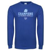 Royal Long Sleeve T Shirt-2017 Football Champions