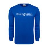 Royal Long Sleeve T Shirt-Franklin & Marshall College