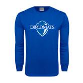 Royal Long Sleeve T Shirt-Diplomats Official Logo Distressed