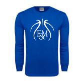 Royal Long Sleeve T Shirt-Logo in Ball