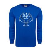 Royal Long Sleeve T Shirt-Logo on Ball
