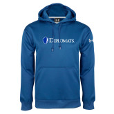 Under Armour Royal Performance Sweats Team Hood-Diplomats Flat Logo