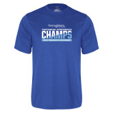 Syntrel Performance Royal Tee-2017 Centennial Conference Champions Womens Lacrosse