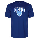 Syntrel Performance Royal Tee-2017 Football Champions Stacked w/ Football Vertical