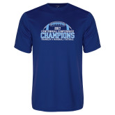 Syntrel Performance Royal Tee-2017 Football Champions Stacked w/ Football