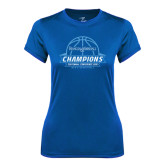 Ladies Syntrel Performance Royal Tee-2016 Centennial Conference Champions Mens Basketball