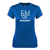 Ladies Syntrel Performance Royal Tee-Franklin & Marshall Archery