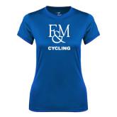 Ladies Syntrel Performance Royal Tee-Franklin & Marshall Cycling