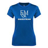 Ladies Syntrel Performance Royal Tee-Franklin & Marshall Equestrian