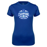 Ladies Syntrel Performance Royal Tee-2017 Centennial Conference Champions Womens Lacrosse