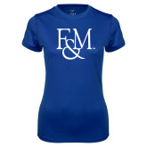 Ladies Syntrel Performance Royal Tee-F&M