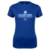 Ladies Syntrel Performance Royal Tee-2017 Football Champions