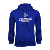 Royal Fleece Hood-Volleyball Can You Dig It